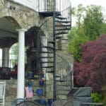 Sierra Remodeling added beautiful cast iron spiral stairs