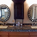 Sierra Remodeling master bathroom remodel granite counters dual vanity (blurry photo)