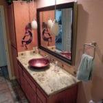Sierra Remodeling Southwest styled custom guest bathroom remodel