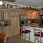 Sierra Remodeling kitchen remodel light oak cabinets, granite counters and stainless steel appliances