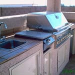 Sierra Remodeling Southwest styled outdoor kitchen in gazebo