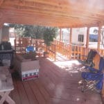 Sierra Remodeling - large covered redwood patio with wheelchair ramps