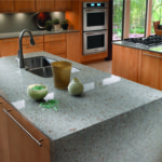 Silestone quartz riverbed countertop